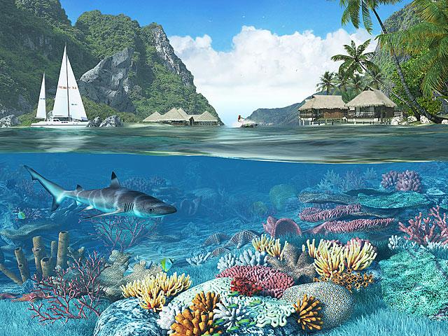 Nature 3D Screensavers - Caribbean Islands - Feast your ...