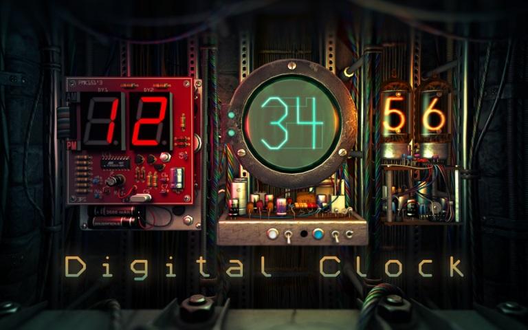 Digital Clock 3D 1.1.2 Mac 破解版 – 3D时钟动态桌面应用-麦氪派(WaitsUn.com | 爱情守望者)