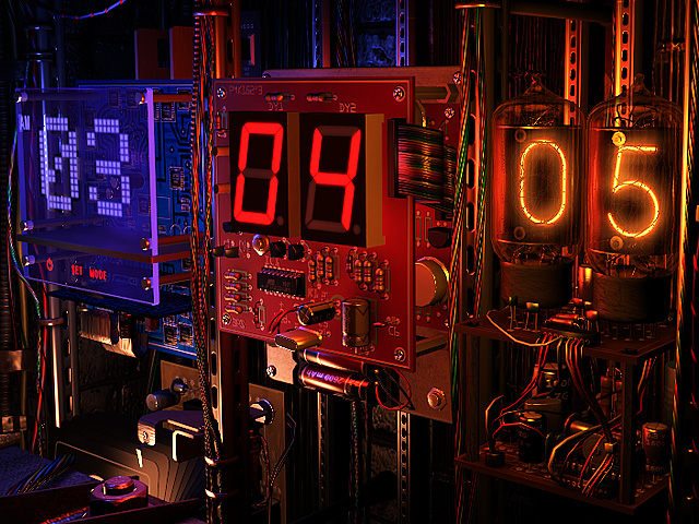 Digital Clock 3D Screensaver 1.0