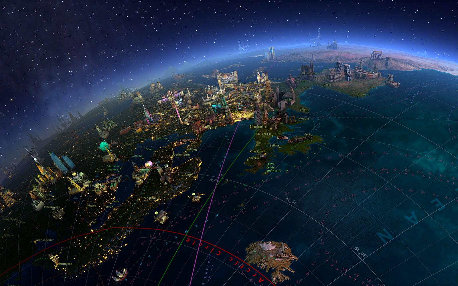 Screenshots For Earth 3D Screensaver