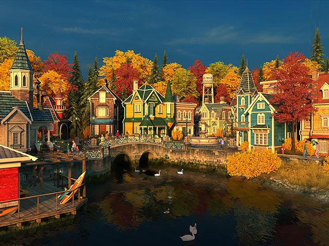 Nature 3d Screensavers Fall Village
