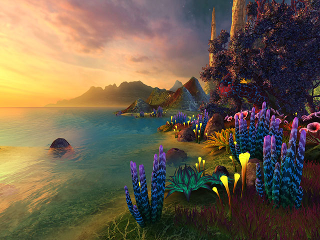 Nature 3d Screensavers Faraway Planet A Beautiful Alien Planet Themed 3d Screensaver