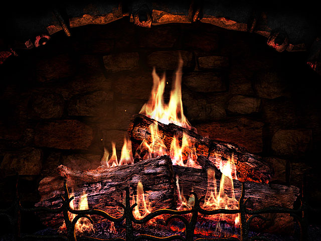 Fireplace 3D Screensavers - Fireplace - Real fireplace at your desktop.