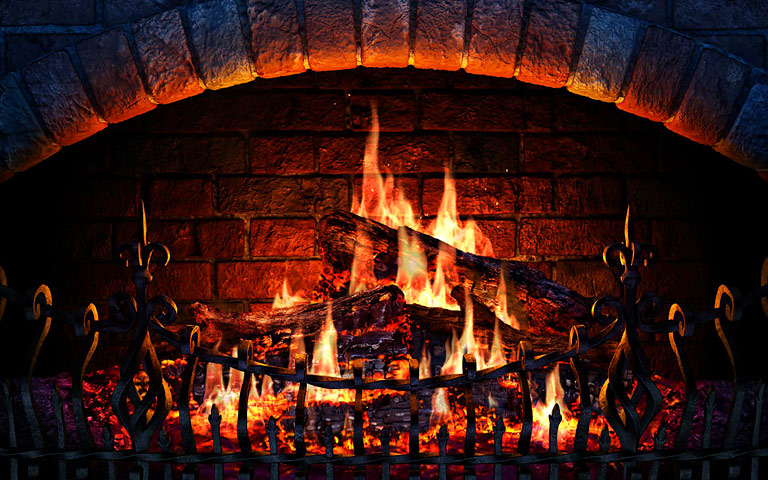 Screenshots For Fireplace 3D Screensaver