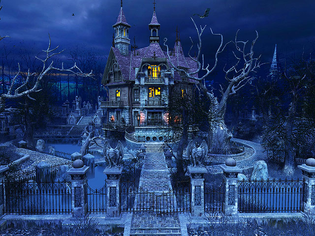 Holidays 3D Screensavers Haunted House Gorgeously Sinister
