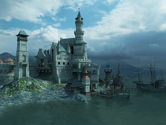 Fantasy 3d screensavers medieval castle see what a real medieval