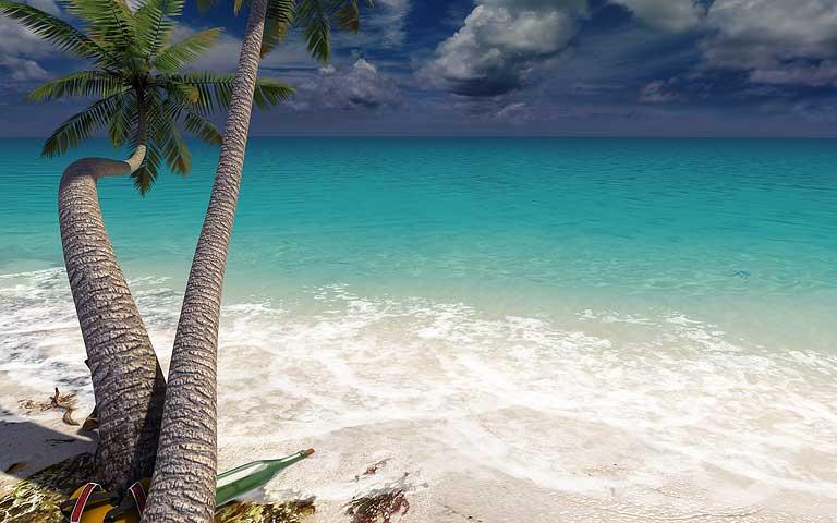 Screenshots For Sandy Beach 3D Screensaver