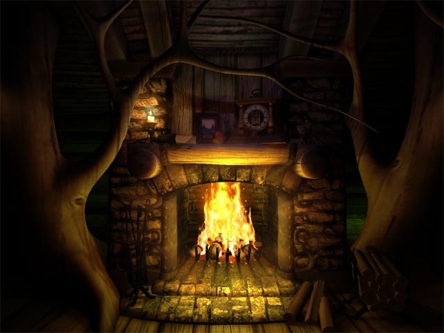 Warm and cozy 3D fireplace screensaver perfect for you home or office. Screen Shot