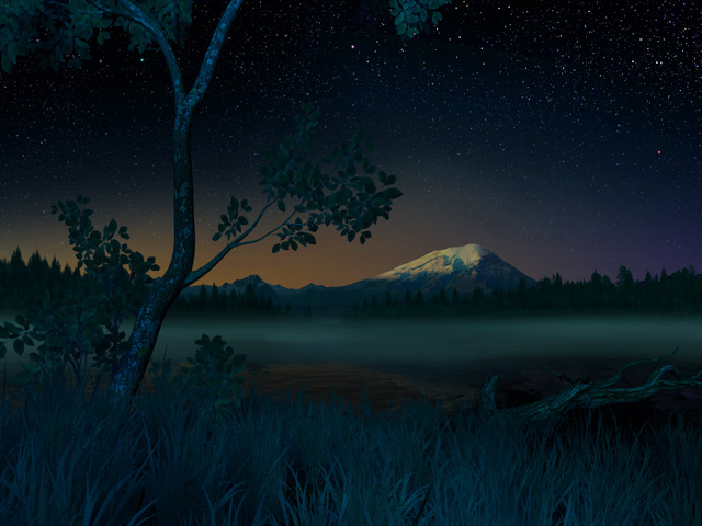 nature 3d screensavers starry night tranquility beneath the