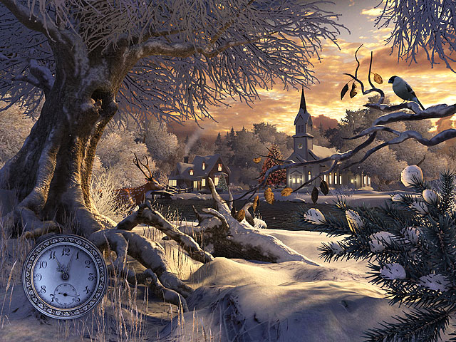 3D Winter Wonderland Animated Wallpaper.