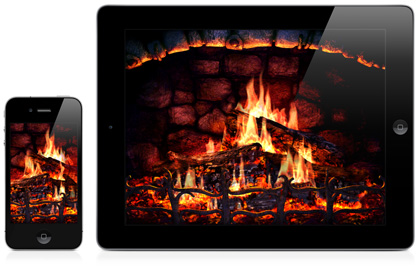 Terrific Iphone Ipad 3D Screensavers Fireplace Real Fireplace At Download Free Architecture Designs Lukepmadebymaigaardcom