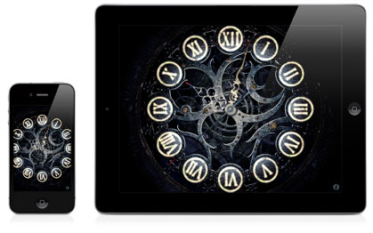 Iphone Ipad 3d Screensavers Mechanical Clock Lite
