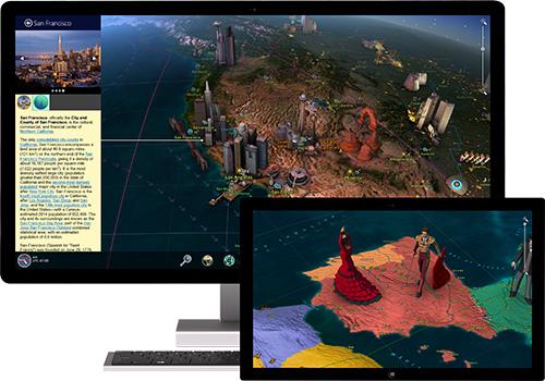 Windows Store 3D Screensavers - Earth 3D - World Atlas -
